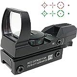 [AERITH BLACK] JH400 Nitro.Vo タイプ リフレックス 4レティクル グリーン レッド 5段階調光 電池付 オープン ドットサイト ダットサイト 101 (BK)