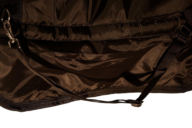 Équitation saddlery4u Chevaux 1200D Ripstop dhiver Couverture 400g Garnissage haute protection pour la nuque Bleu/gris