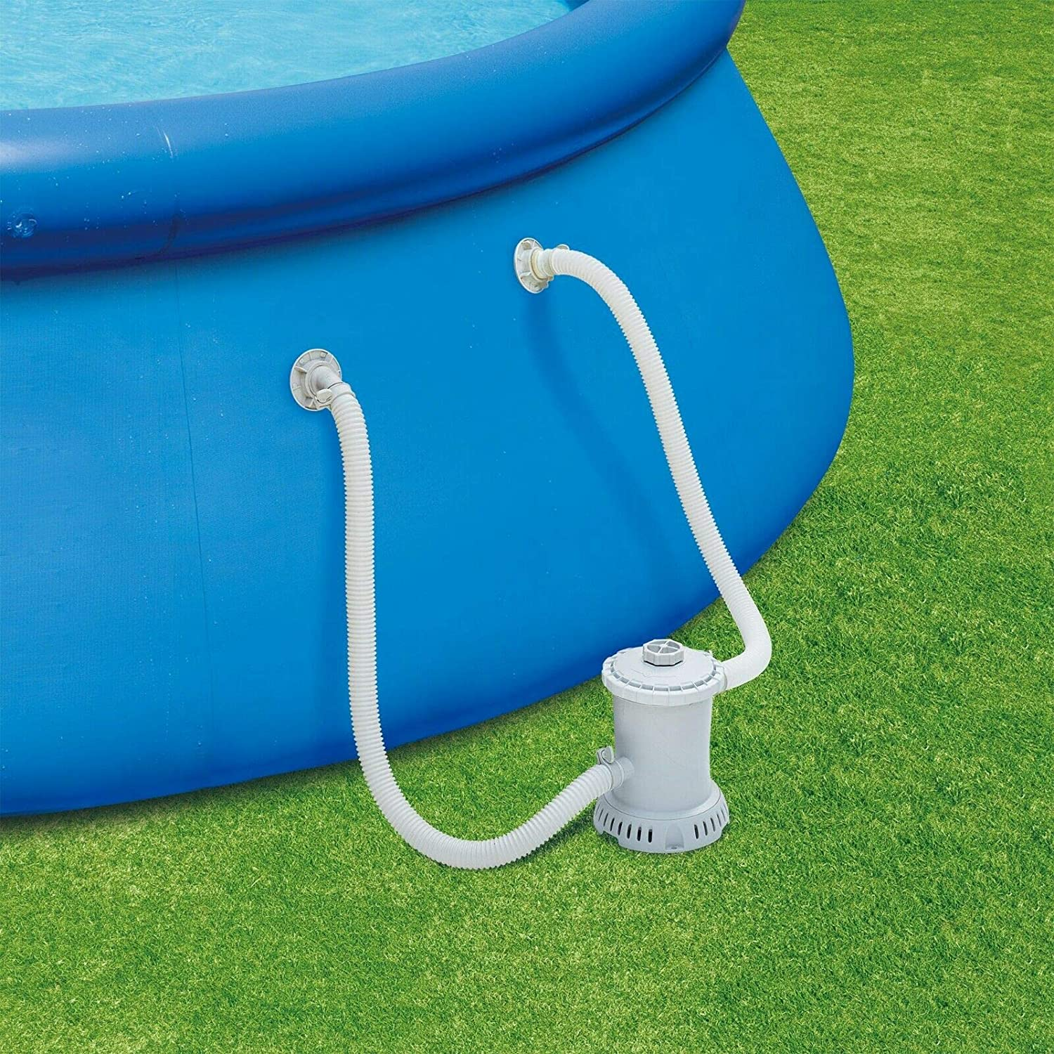 10x30Quick Set Inflatable Ring Above Ground Pool with Filter Pump ...