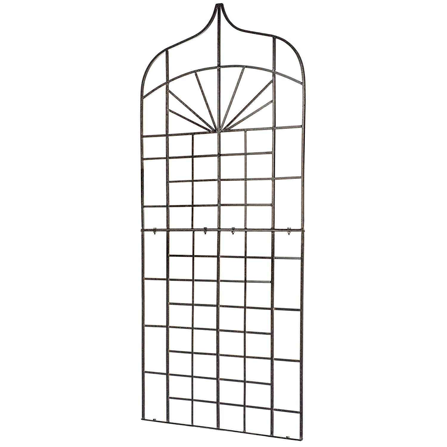 H Potter Ogee Trellis Wrought Iron Weather Resistant (Large)