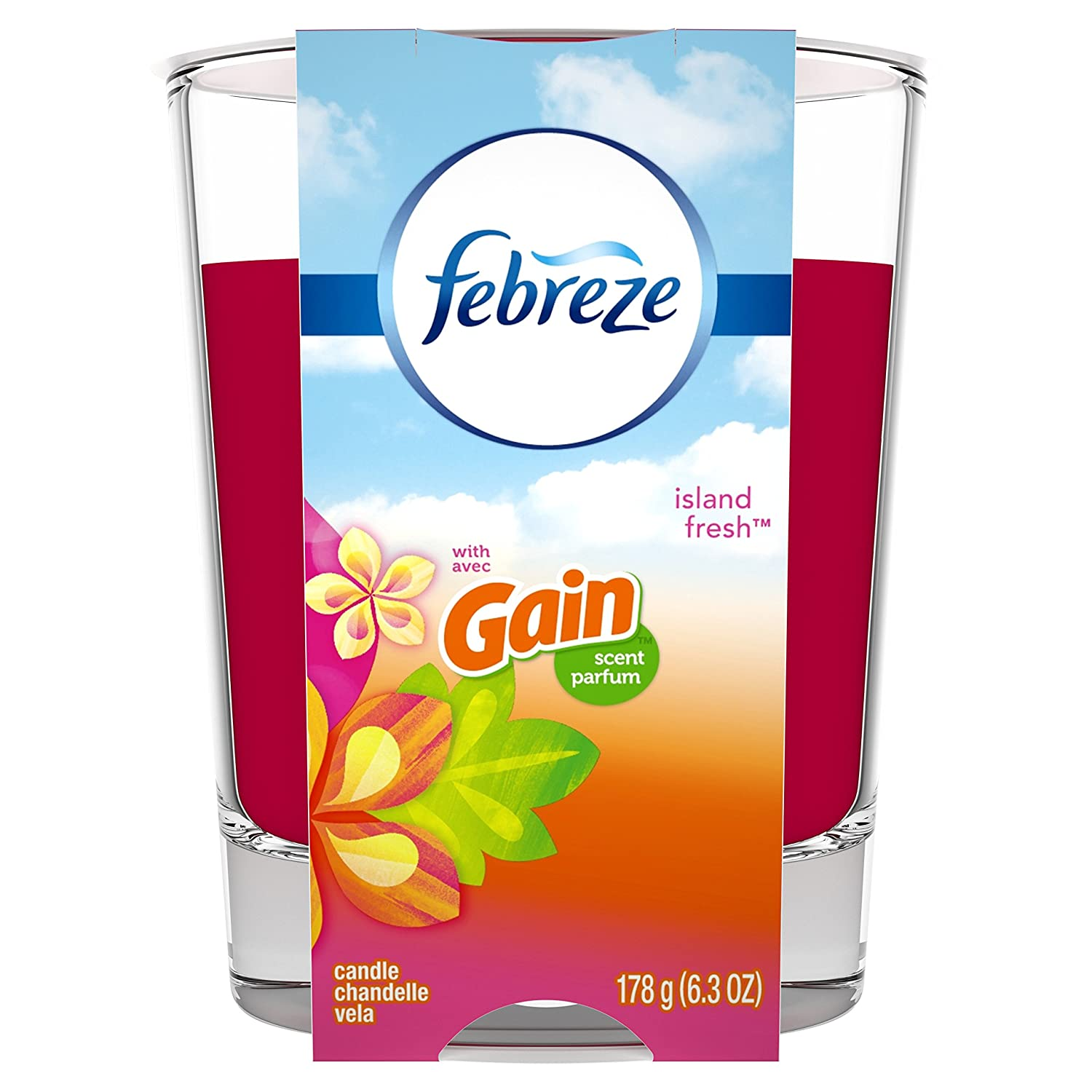 Febreze Candle Air Freshener, Linen & Sky, 1 count Procter and Gamble