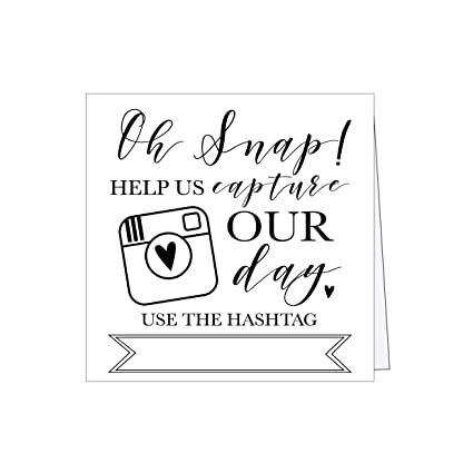 Amazon 25 Black And White Wedding Hashtag Signs Vintage Table