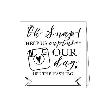 Amazon 25 Black And White Wedding Hashtag Signs Vintage Table