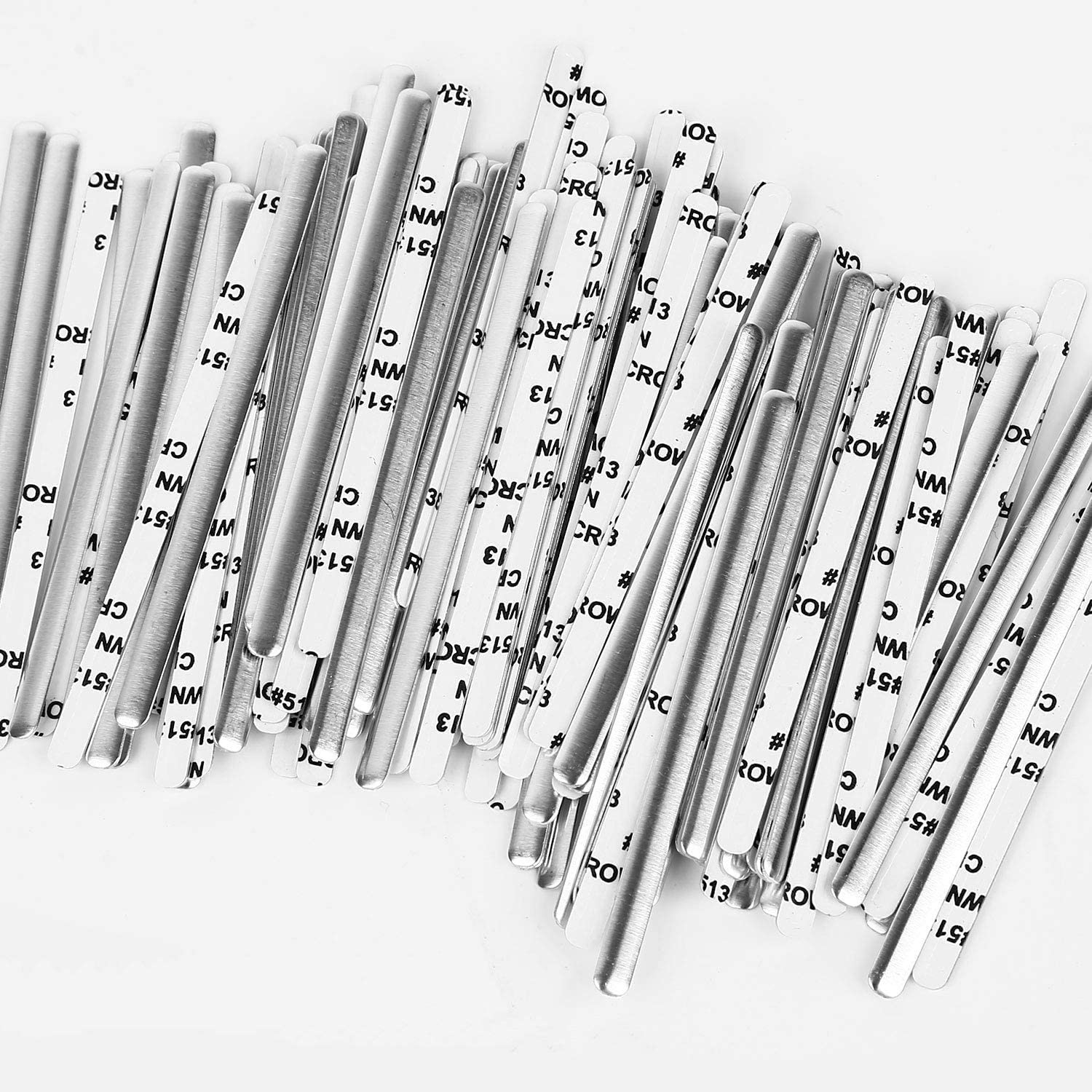 100 Aluminum Nose Bridge Strips for Face Cover Adjustable Nose Clips Wire for DIY,Metal Nose Strip Accessories for Sewing Crafts