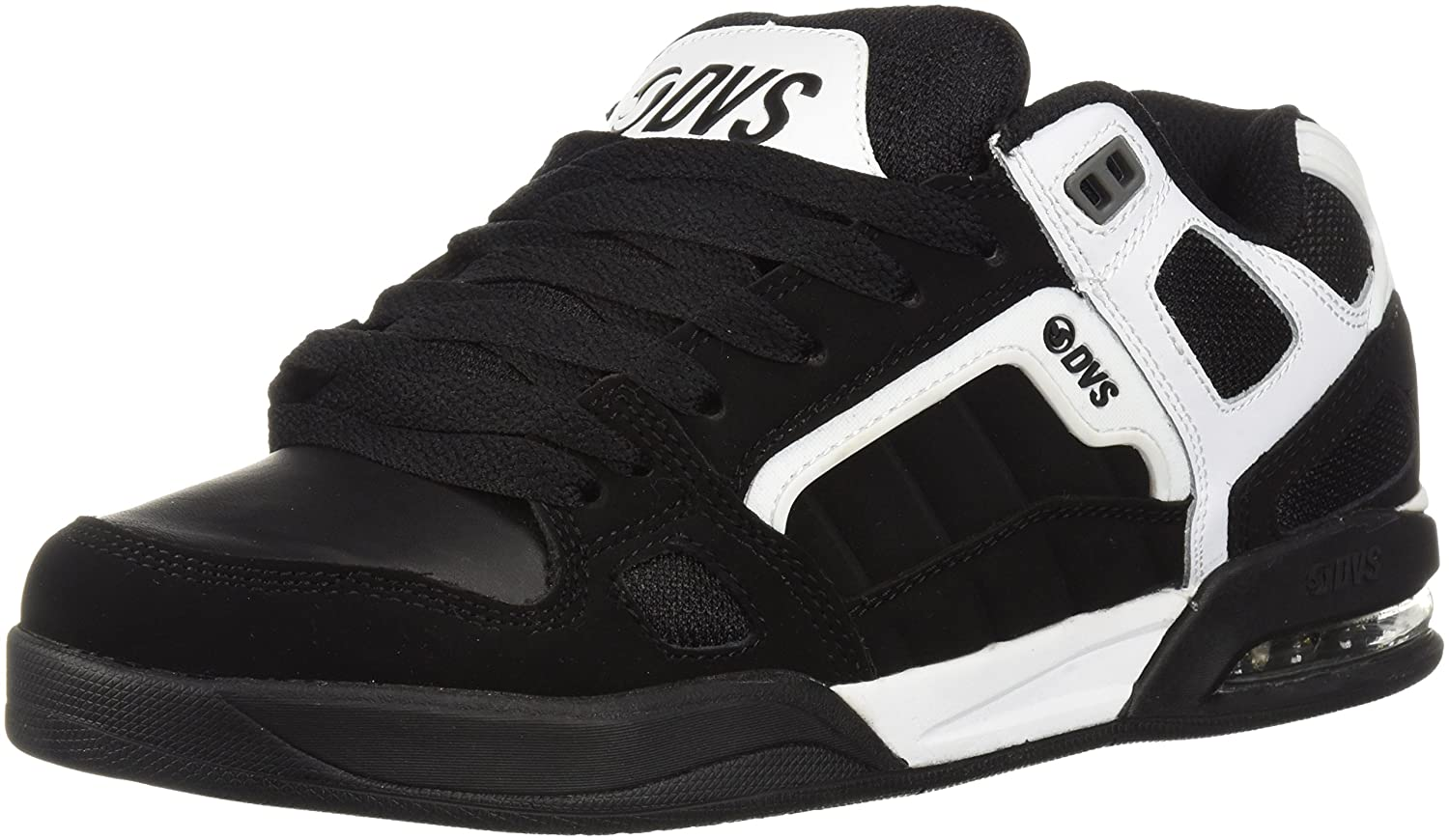 Dvs Footwear Mens Men's Drone+ Skate Shoe 7.5 M US|White/Black Nubuck