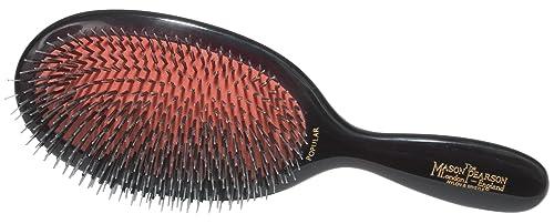 Mason Pearson Popular Mixture Bristle/nylon Mix Hair Brush-ruby Handle