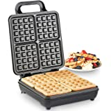 VonShef Quad Belgian Waffle Maker 1100W – Compact Design with Non-stick Coating & Automatic Temperature Control