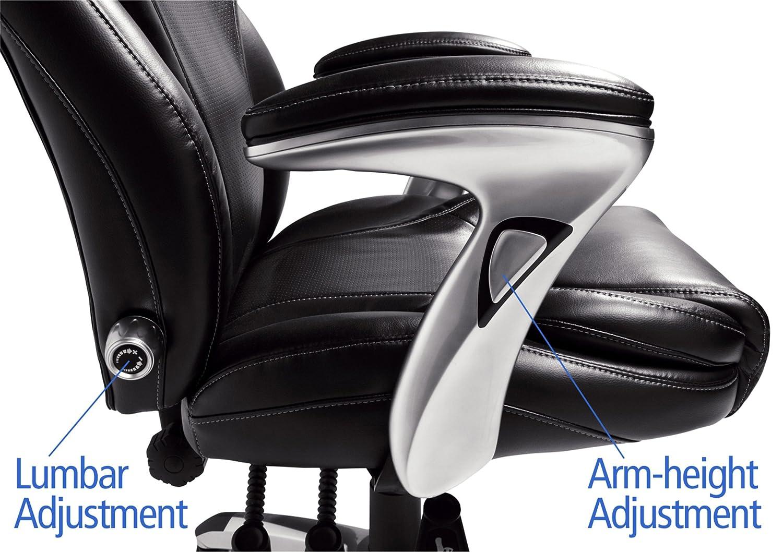 amazoncom serta bonded leather executive chair multipaddle black kitchen u0026 dining