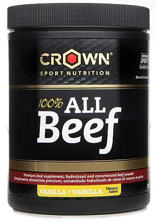 Crown Sport Nutrition 100% All Beef, Concentrado proteico de carne de vacuno con Hierro