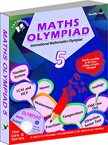 International Maths Olympiad - Class 5  with CD: Theories with Examples; Mcqs and Solutions; Previous Questions; Model Test Papers