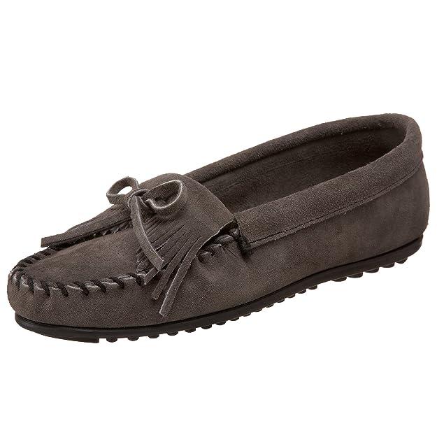 Amazon.com   Minnetonka Women s Kilty Suede Moccasin   Loafers   Slip-Ons bc86ddda19e