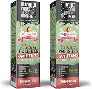 product image for My Magic Mud - Activated Charcoal Toothpaste, Natural, Whitening, Detoxifying, 4 oz, Cinnamon Clove (2-Pack)