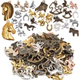 Tibetan Antique Bronze 3D HORSE Charms Pendant Earring Drop Finding HR21 10Pcs