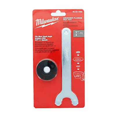 Milwaukee Genuine OEM 48-03-1050 Spanner Wrench and Spindle Flange Lock Nut Combination Kit for Angle Grinders with 5/8 Inch 11 Spindles (Angle Grinder Not Included) - Reciprocating Saw Blades - .com [5Bkhe0910144]