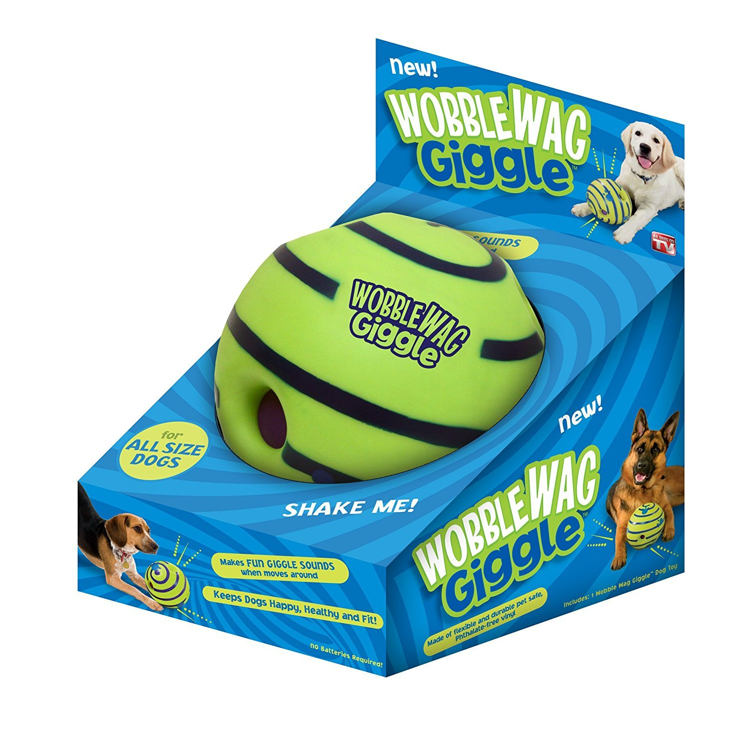 Allstar Innovations Wobble Wag Giggle Ball, Dog Toy 3-Pack