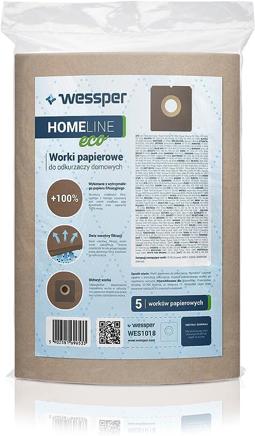 Wessper 15x Sacs daspirateur pour Bluesky BVC 869-8 8698 Papier