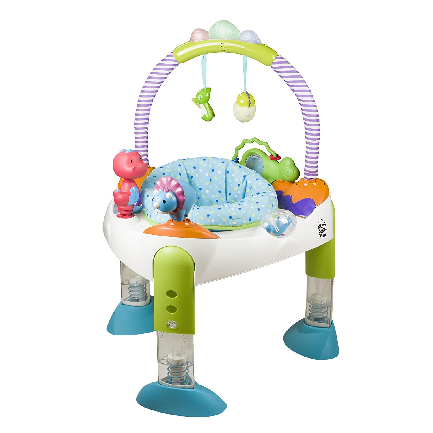 Evenflo Exersaucer for Baby Fast Fold & Go, D is for Dino