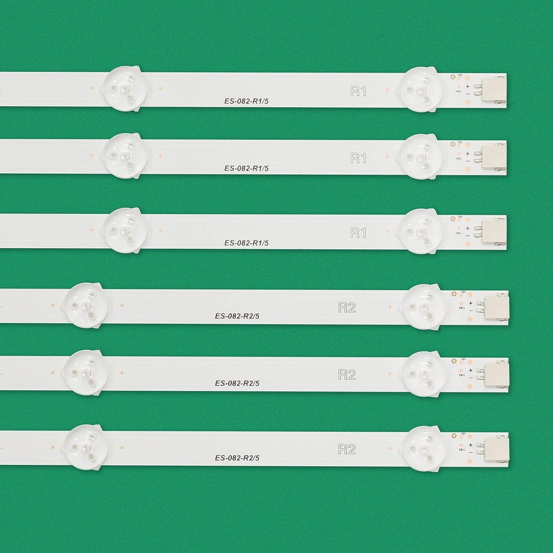 Calvas 12pcs LED strip For LG 50LA613 50LN577 50LN5100-UB for Panasonic TX-L50B6B TX-L50BL6E for Toshiba 50L4353D 50L2333D Color: 1 lot