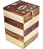 ITOS365 Handicrafted Wooden Money Bank Kids Piggy Coin Box Gifts