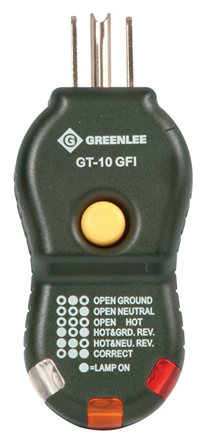 Greenlee GT-10GFI quick and easy GFCI Electric Socket/Circuit ...