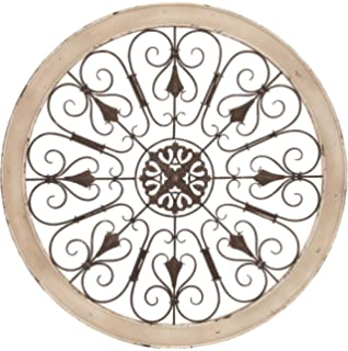 Amazon.com: Large Round Wrought Iron Wall Decor Rustic Scroll ...