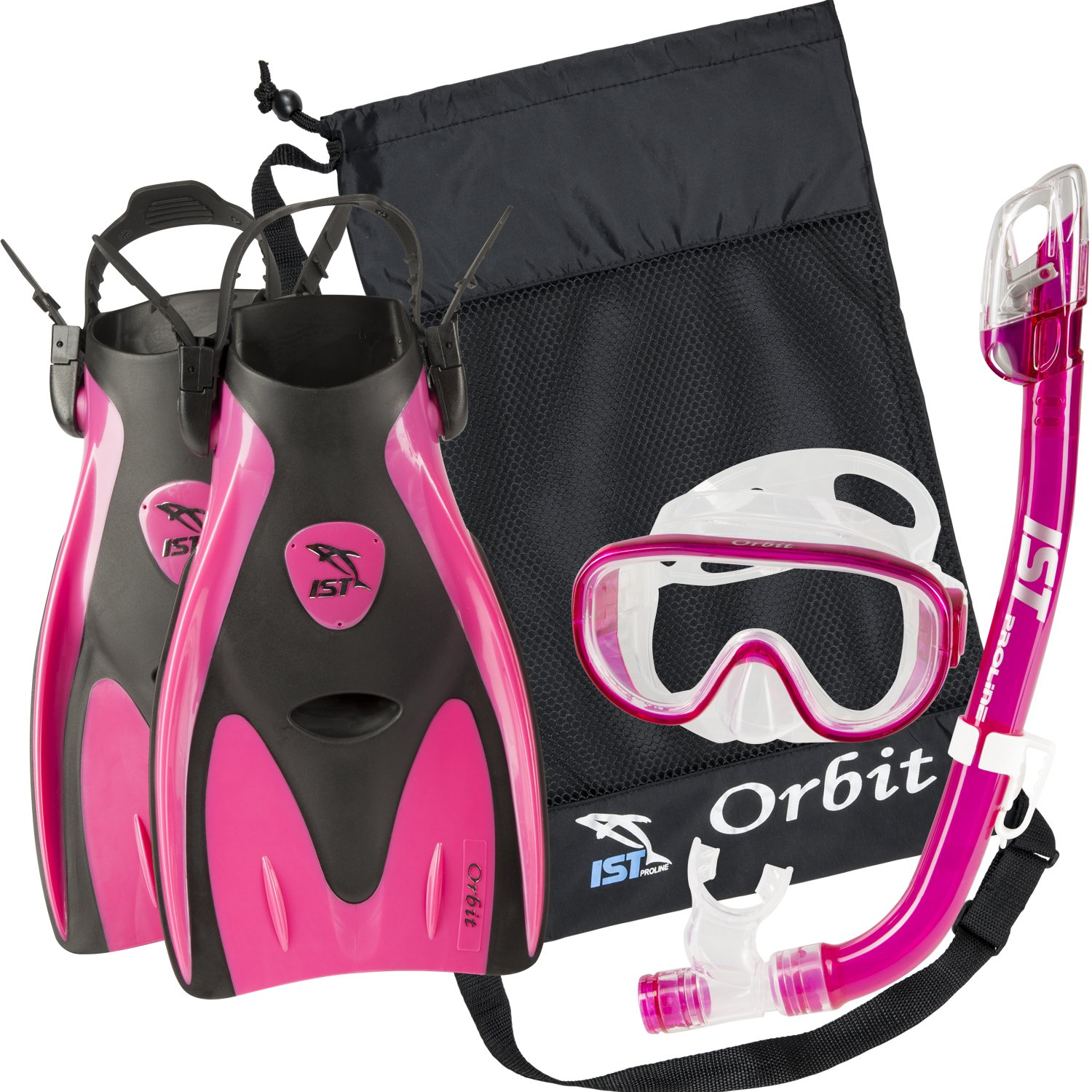 IST Orbit Snorkel Set (Pink, Small (2-5))
