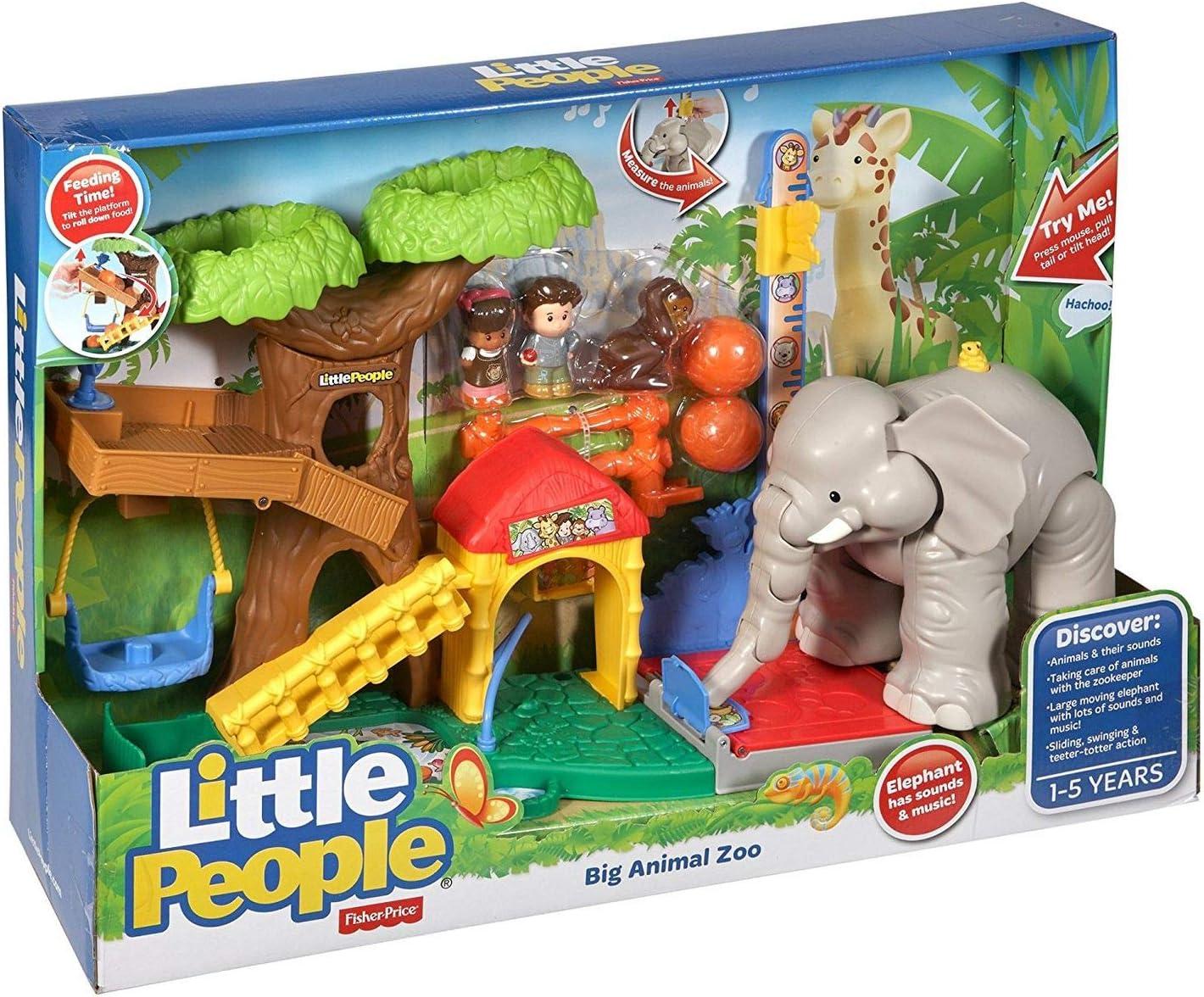 Amazon Com Fisher Price Little People Big Animal Zoo Toys Games