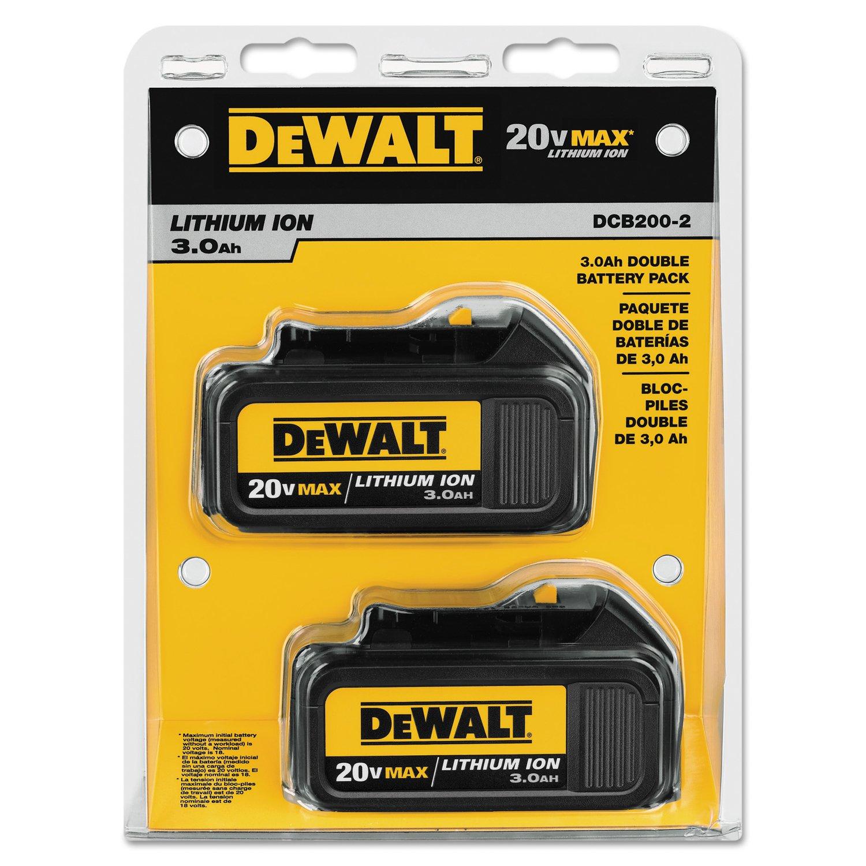 DEWALT DCB200-2 20-Volt MAX Li-Ion 3.0 Ah Battery 2-Pack - Cordless ...