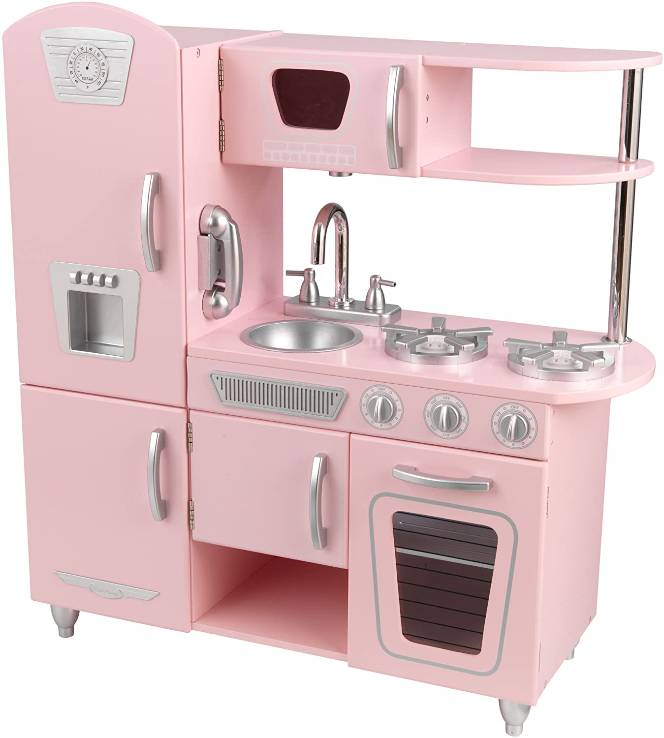 Play Kitchen Amazoncom Kidkraft Vintage Kitchen In Pink Toys Games