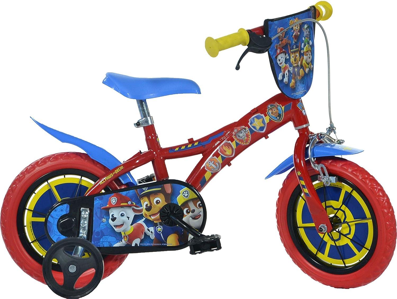 Dino Bikes 612L-PW Patrulla Canina Bicicleta, Rojo, 12 Pulgadas ...