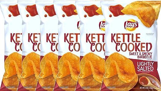 Chip de patata de Lays Kettle cocido, barbacoa dulce y ...