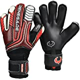 Renegade GK Vulcan Goalie Gloves With Removable Pro Fingersaves - Sizes 6-11, 3 Styles/Cuts (Hybrid, Roll, Flat) - 30 DAY 100% WARRANTY - Unisex, Adult, Youth Soccer Goalie
