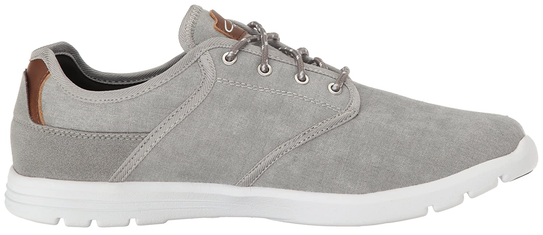 C1RCA Zapatillas de skate para hombre, angostas, antideslizantes, lisas, con pat¨ªn Atlas, lavadas en gris / blanco, 7 m US