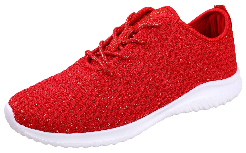 YILAN Women's Fashion Sneakers Casual Sport Shoes B07BMKWWQS 5 B(M) US|Red
