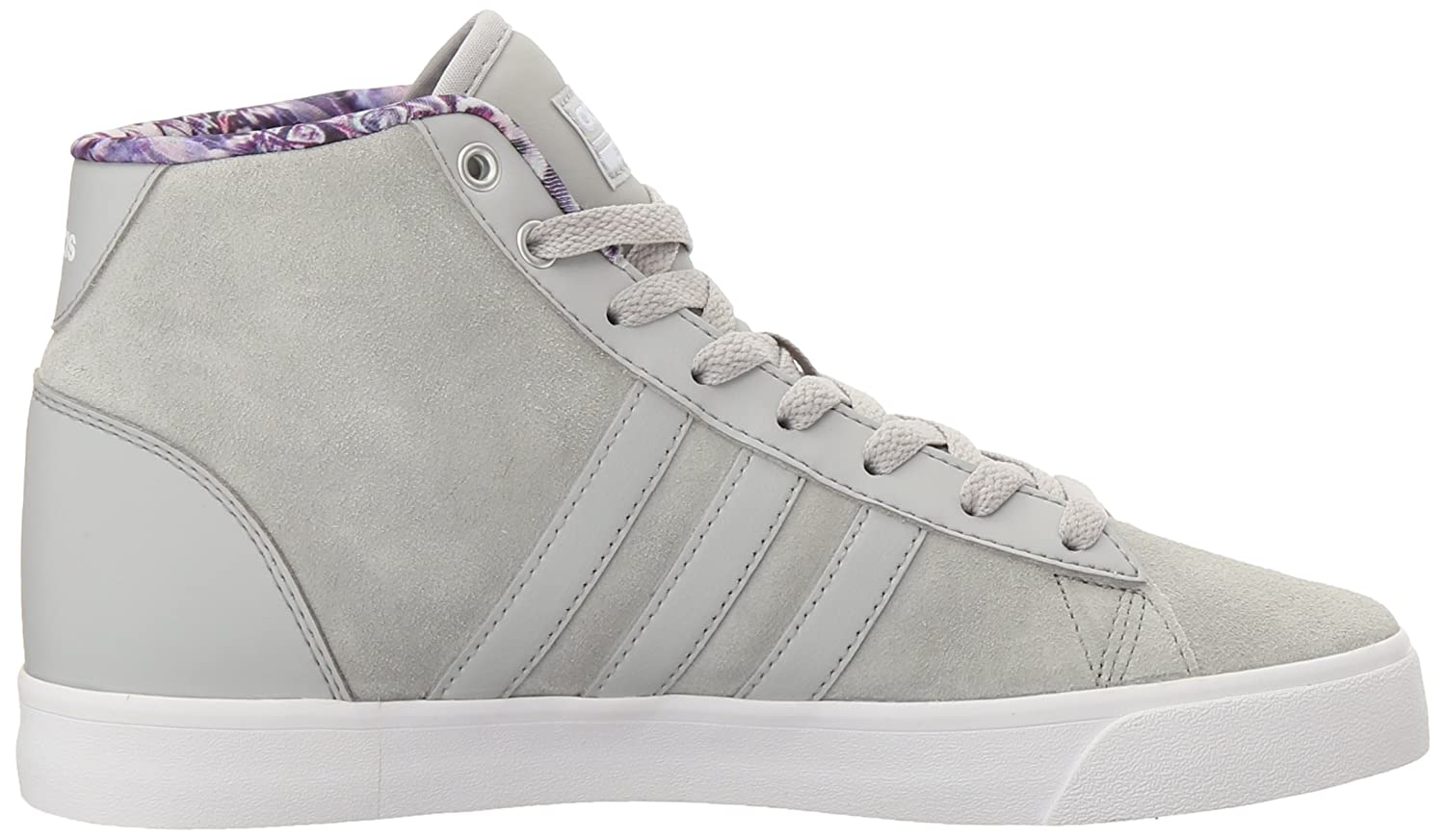 adidas Women's Cloudfoam Daily Qt Mid Fashion Sneakers B01HSIR8ZQ 10 M US|Clear Onix/White