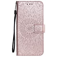 Leather Wallet Case for Galaxy A9 (2018), Flip Case Leather with Kickstand,Folio Magnetic Closure Protective Cover with Card Slots for Samsung Galaxy A9 2018 - DEKT030234 Rose Gold