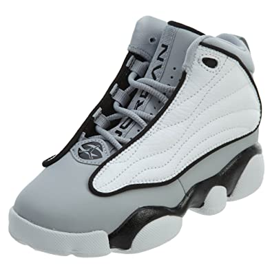 best service c59ea 772f1 Image Unavailable. Image not available for. Color: Nike Boys' Jordan Pro  Strong Basketball Shoes, Wolf Grey/Black-White,