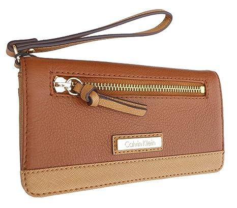 Calvin Klein mujer cartera de piel marrón h3jqa2av