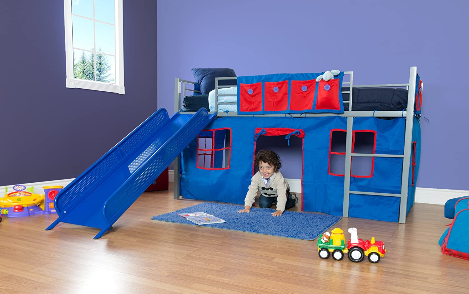 Bunk bed with slide walmart - Bunk Bed With Slide Walmart 54