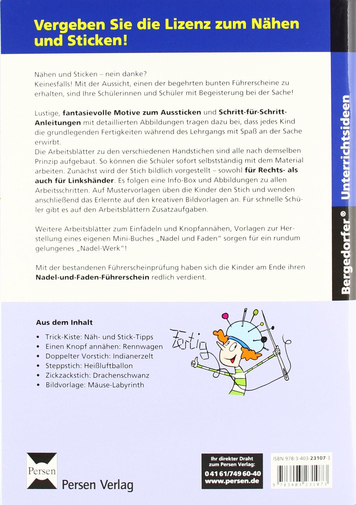 Der Nadel- und Faden-Führerschein: 2. bis 4. Klasse Bergedorfer ...