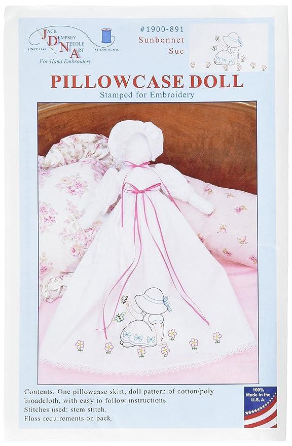 Amazon Jack Dempsey Stamped White Pillowcase Doll Kit