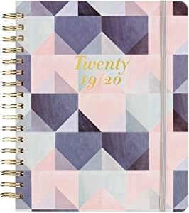 """2019-2020 Academic Planner - Weekly & Monthly Planner with Tabs, Thick Paper, 8.25"""" x 9.25"""", Back Pocket with 15 Notes Pages + Gift Box"""