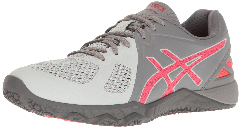 ASICS Women's Conviction X Cross-Trainer Shoe, Aluminum/Diva Pink/Glacier Grey, 9.5 M US