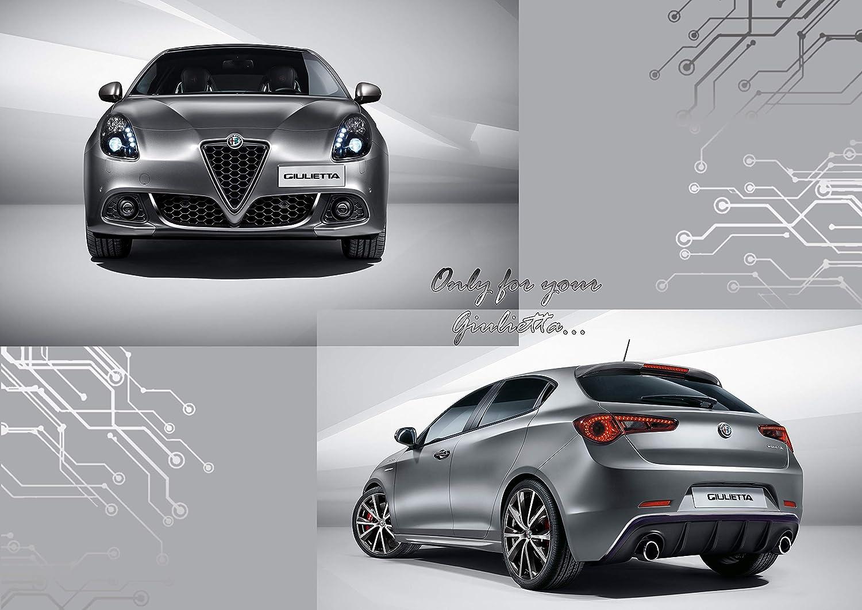 Post/érieur pour Alfa Romeo Giulietta Voiture avec Le 3M APT Double adh/ésif Quattroerre 19988 Profil Ant/érieur Chrom/é