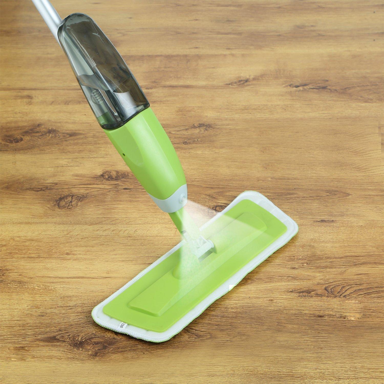 Spray Mop 360 Degree Professional Spray Mop + 2 x Ultra Soft Microfibre Mop Pads