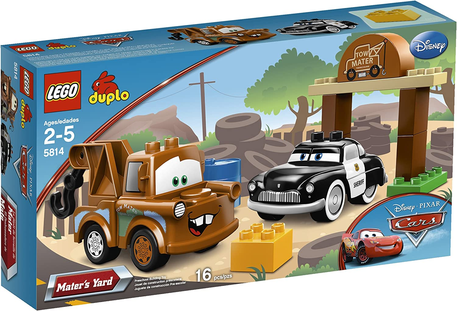 Amazon Com Lego Duplo Cars Mater S Yard 5814 Toys Games