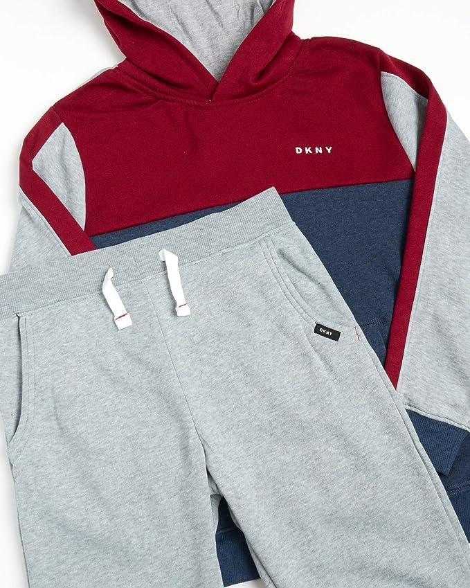 2-Piece Fleece Pullover Hoodie Sweatshirt and Sweatpants DKNY Boys Jogger Set
