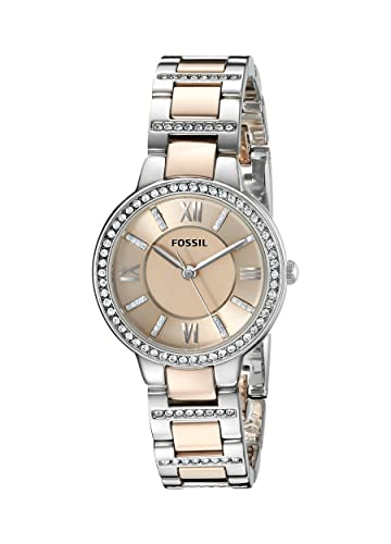 a2bcd2c9714 Buy Fossil Virginia Analog Gold Dial Women s Watch - ES3405 Online at Low  Prices in India - Amazon.in