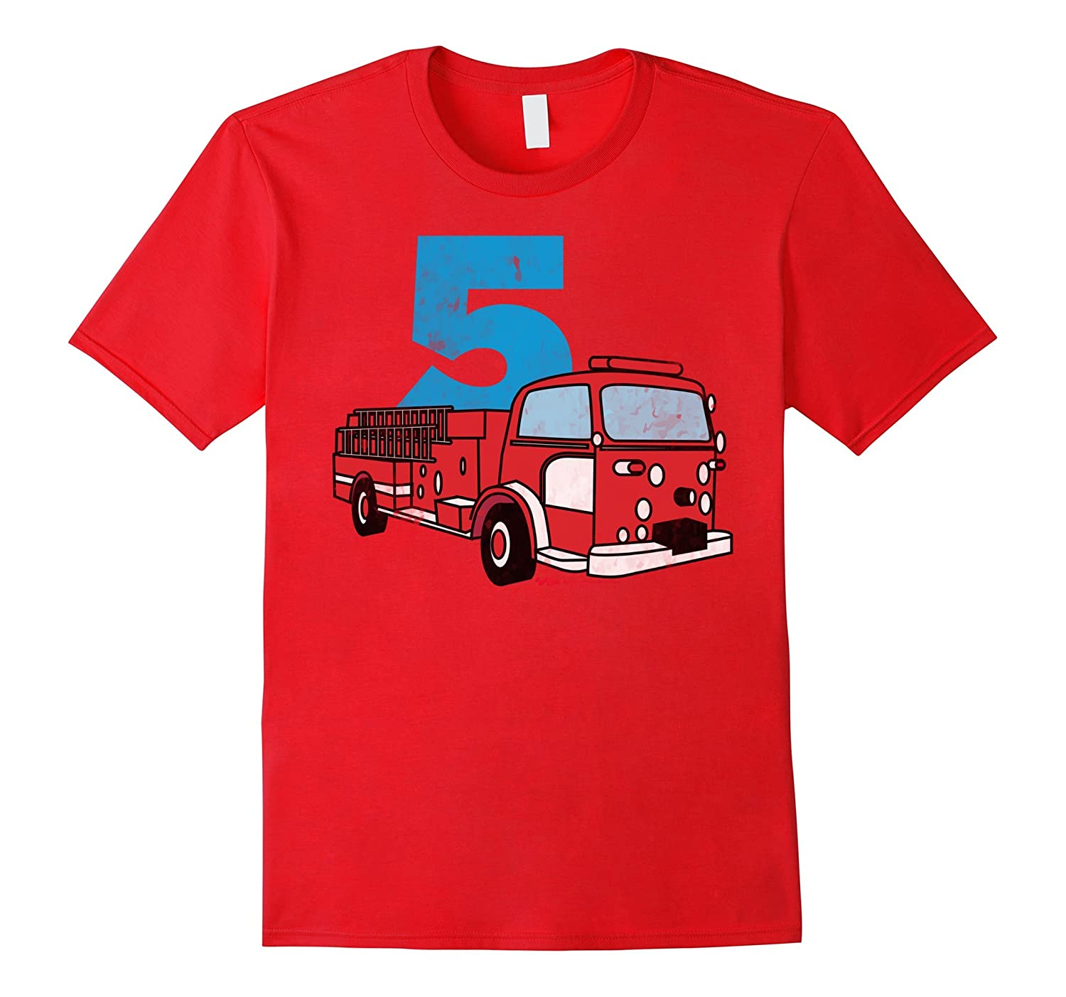 4th Fireman Happy Birthday T Shirt for Kid Boys and Girls-4LVS