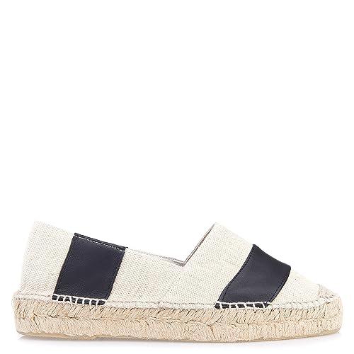 Gaimo - Alpargatas para Mujer Blanco Weiß: Amazon.es: Zapatos y complementos